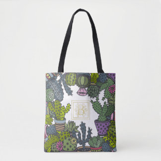 Cactus Monogram B Tote Bag
