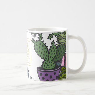 Cactus Monogram C Coffee Mug