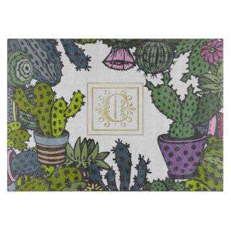 Cactus Monogram C Cutting Board