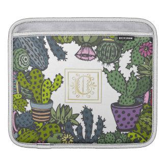 Cactus Monogram C iPad Sleeve