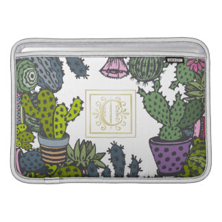 Cactus Monogram C MacBook Sleeve