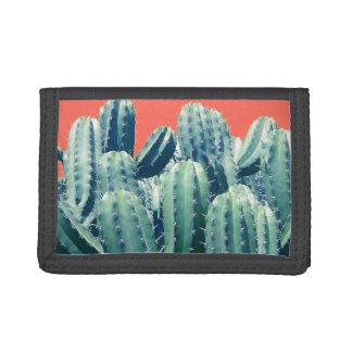 Cactus on Coral black wallet