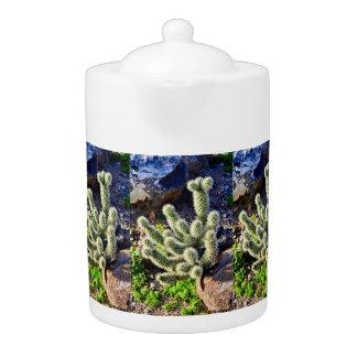 Cactus on Rock Tea Pot