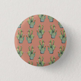 cactus pattern 3 cm round badge