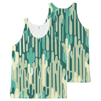 Cactus Pattern All-Over Print Singlet