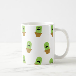 Cactus Pattern Coffee Cup