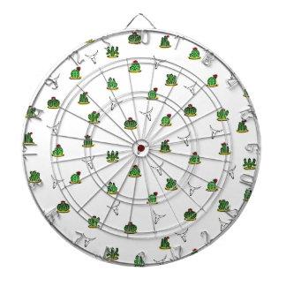 Cactus pattern dartboard