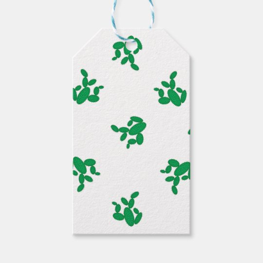 Cactus - pattern. gift tags