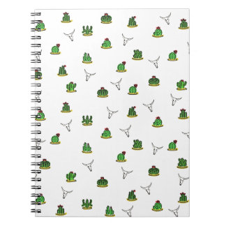 Cactus pattern notebooks