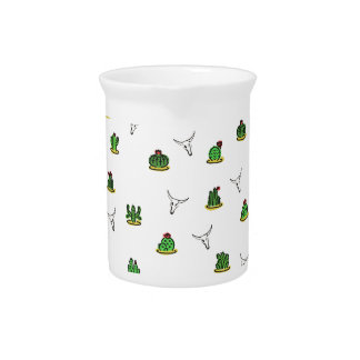 Cactus pattern pitcher