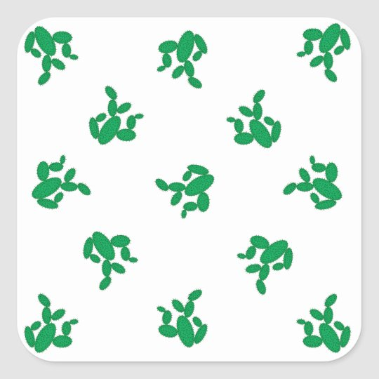 Cactus - pattern. square sticker