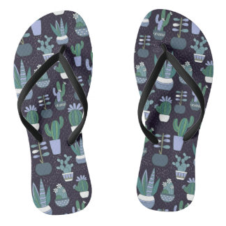 Cactus pattern thongs