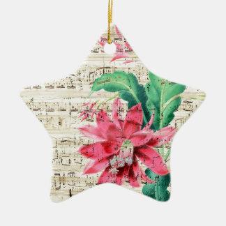 Cactus Poetry Ceramic Star Decoration