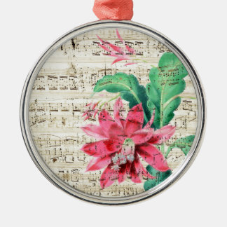 Cactus Poetry Silver-Colored Round Decoration
