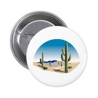 Cactus Prairie Scene 6 Cm Round Badge