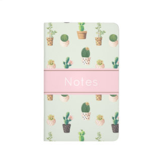 Cactus Print Pocket Journal
