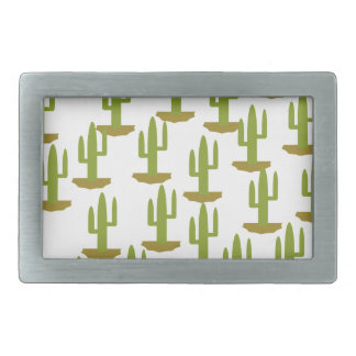 Cactus Rectangular Belt Buckle