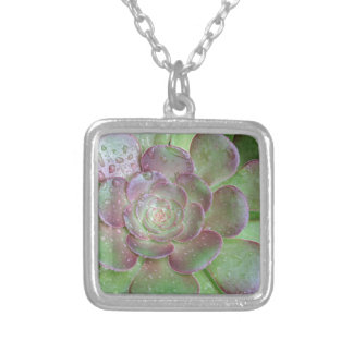 Cactus Silver Plated Necklace