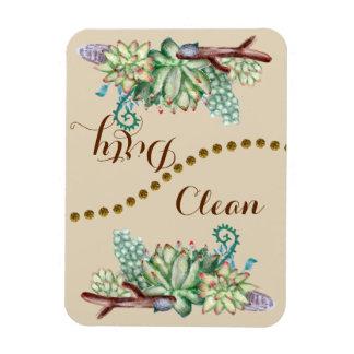 Cactus Succulents Clean Flip Dishwasher Magnet
