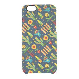 Cactus sunflower on blue Festa Junina pattern Clear iPhone 6/6S Case