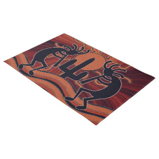 Cactus Sunset Desert Kokopelli Southwest Design Doormat