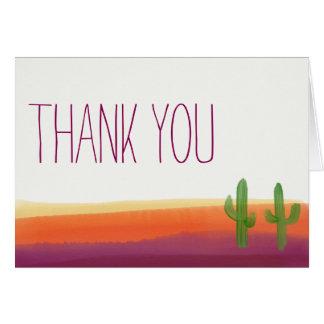 Cactus Sunset Thank You Card