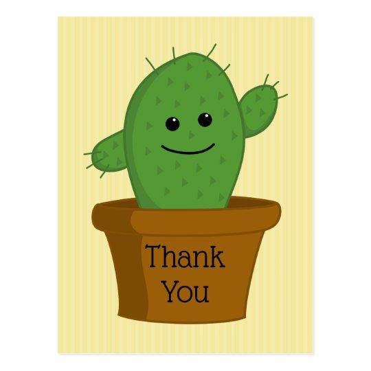 Cactus Thank You Postcard