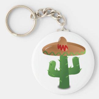 Cactus Wearing Sombrero Key Ring
