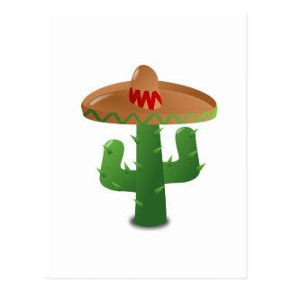 Cactus Wearing Sombrero Postcard