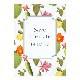 Cactus wedding save the day card