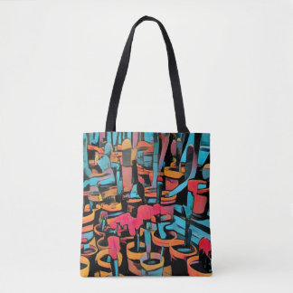 Cactus Worl Stylized All Over Print Tote Bag