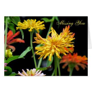 Cactus Zinnia Missing You Greeting Card