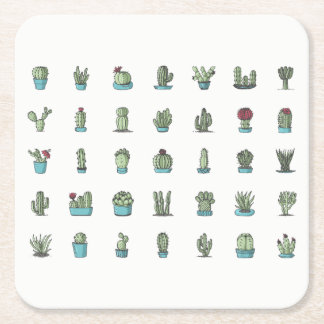 Cactuses and Succulents Coasters