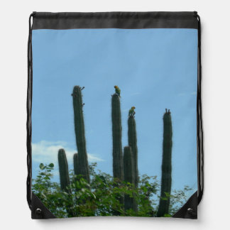 Cactuses with Lorikeets Drawstring Backpack
