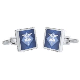 Cad DO (diamond) Silver Finish Cufflinks