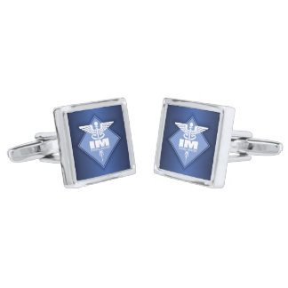 Cad IM (diamond) Silver Finish Cuff Links