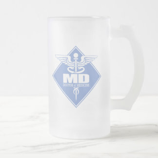 Cad MD (diamond) Frosted Glass Beer Mug