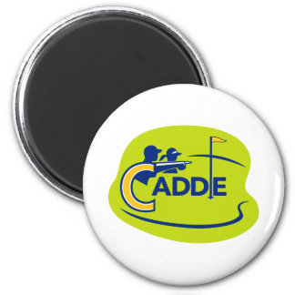 Caddie and Golfer Golf Course Icon Magnet