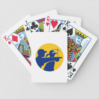 Caddie and Golfer Icon Bicycle Playing Cards