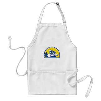 Caddie and Golfer Pointing Retro Standard Apron