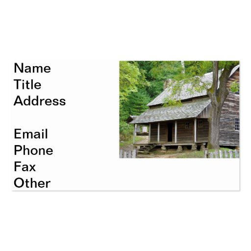 Cades Cabin Business Card Template