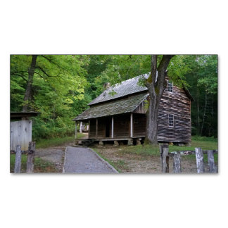 Cades Cove Cabin Magnetic Business Cards