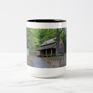 Cades Cove Cabin Two-Tone Coffee Mug
