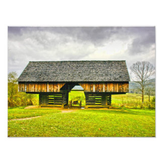 Cades Cove Cantilever Barn at the Tipton Place Art Photo