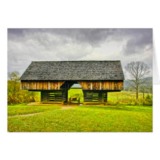 Cades Cove Cantilever Barn at the Tipton Place Card