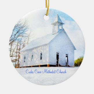 Cades Cove Methodist Church Ornament - Winter