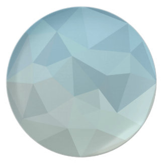 Cadet Blue Orange Abstract Low Polygon Background Plates