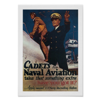 Cadets for Naval Aviation Poster