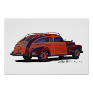 Cadillac 1941 Station Wagon / Woody Poster