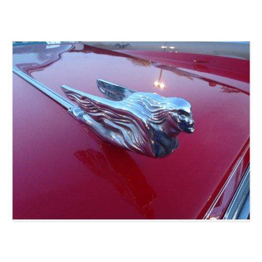 Cadillac Flying Woman Hood Ornament Post Card